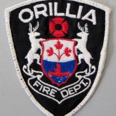 Militaria: PARCHE BOMBERO CANADA - ORILLIA - ONTARIO. Lote 296900343