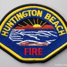 Militaria: PARCHE BOMBERO USA - HUNTINGTON BEACH - CALIFORNIA. Lote 296900478