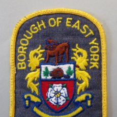 Militaria: PARCHE BOMBERO CANADA - BOROUGH OF EAST YORK -. Lote 296900948