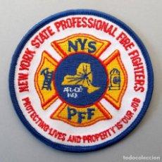Militaria: PARCHE BOMBERO USA - NEW YORK STATE PROFESSIONAL FIRE FIGHTERS. Lote 296901133