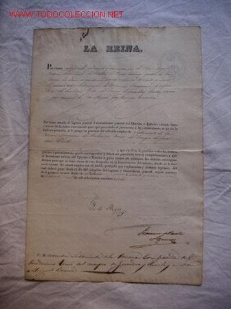 NOMBRAMIENTO DE UN GUARDIA CIVIL FIRMADO POR LA REINA ISABEL II (Militar - Propaganda y Documentos)