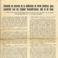 Militaria: UXW PANFLETO ALEMAN DR. FUNK - ORIGINAL DE EPOCA - RARO / II GUERRA MUNDIAL NAZISMO. Lote 23779305