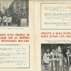 Militaria: UXW PANFLETO ALEMAN ANTI INGLES - ORIGINAL DE EPOCA - RARO / NAZISMO Y RELIGION - II GUERRA MUNDIAL. Lote 23756468