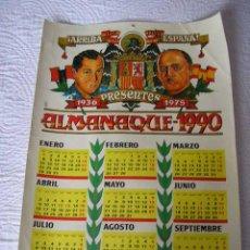 Militaria: ALMANAQUE DE FRANCO Y JOSE ANTONIO ANTIGUO MUY ORIGINAL -1990. Lote 26428369