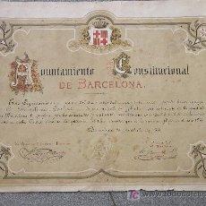 Militaria: CONJUNTO DE 13 DOCUMENTOS (CONCESIONES. TÍTULOS Y DIPLOMAS) CONCEDIDOS AL DR. BARTOMEU ROBERT . Lote 22706899