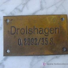 Militaria: PLACA CONTENEDOR ALEMAN II G.M. PLATE CONTAINER GERMAN II G.M. . Lote 26455569