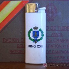 Militaria: ENCENDEDOR MILITAR: BATALLÓN DE INGENIEROS. BING XXII . Lote 5641418
