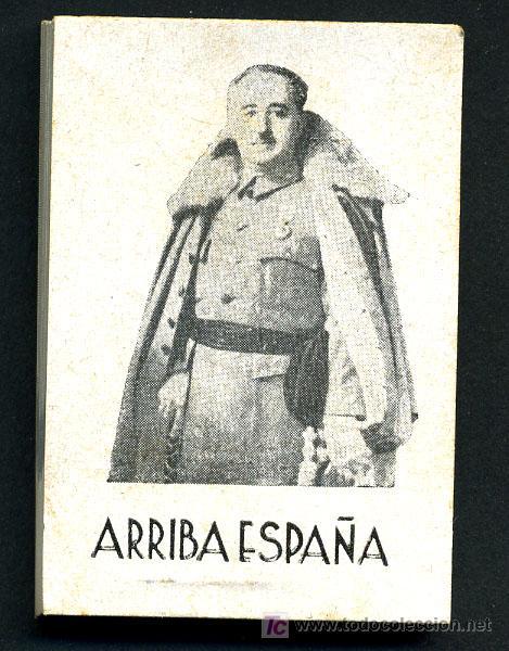 Militaria: LIBRITO O LIBRETITA , FRANCISCO FRANCO LEVANTANDO EL BRAZO , ARRIBA ESPAÑA, RB - Foto 2 - 120966799