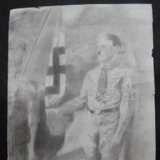 Militaria: ANTIGUO DIBUJO DE HITLER.. INDICA EN ALEMAN: RECORDANDO AL FÜHRER.. ENVIO GRATIS¡¡¡. Lote 27186718