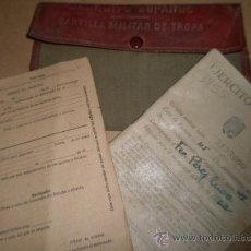 Militaria: CARTERA MILITAR CON DOCUMENTOS DE UN SOLDADO NACIDO EN ALCAÑIZ, TERUEL. Lote 9217727