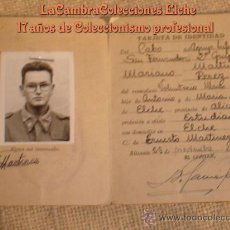Militaria: TERCERA REGION MILITAR, DIVISION 31, AGRUP. INFANTERIA S. FERNANDO, Nº11, CADIZ. AÑO 1961. Lote 15831194