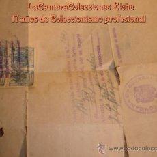 Militaria: DOCUMENTO MILITAR, NOMBRAMIENTO DE CABO, INFANTERIA, 1961, NACIDO EN ELCHE, DOMICILIO EN ELCHE. Lote 9471589