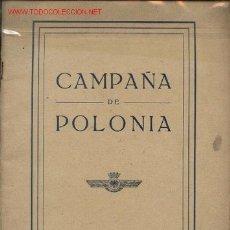 Militaria: CAMPAÑA DE POLONIA CAMPA?A OF POLAND . Lote 27577213