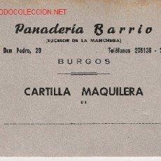 Militaria: CARTILLA PAN BURGOS. Lote 32872612