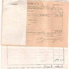 Militaria: REGIMIENTO DE ZAPADORES. 5 FACTURAS Y UN TICKET.DEPOSITO DE VIVERES . SEVILLA, AÑOS 1950 Y 1951.. Lote 11024201
