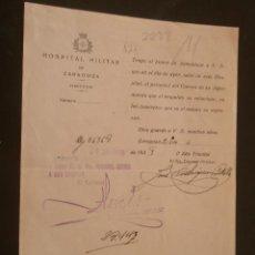 Militaria: DOCUMENTO TAMAÑO CUARTILLA CON MEMBRETE REPUBLICANO. Lote 11083175