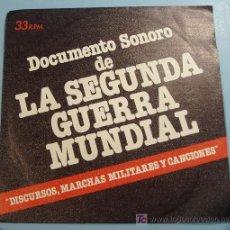 Militaria: DISCURSOS, MARCHAS MILITARES Y CANCIONES DE LA SEGUNDA GUERRA MUNDIAL. Lote 22585106