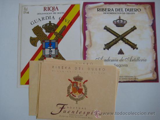 ETIQUETAS DE VINO (Militar - Propaganda y Documentos)