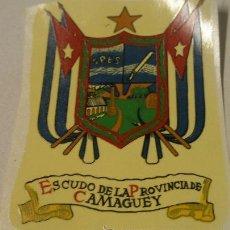 Militaria: CALCOMANÍA DE UNOS 8 CMS APROX. ESCUDO DE LA PROVINCIA DE CAMAGUEY. Lote 14175844