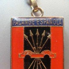 Militaria: LLAVERO POLÍTICO MILITAR. FALANGE ESPAÑOLA. YUGO Y FLECHAS. PRIMO DE RIVERA. BANDERA. PERFECTO. . Lote 14498566