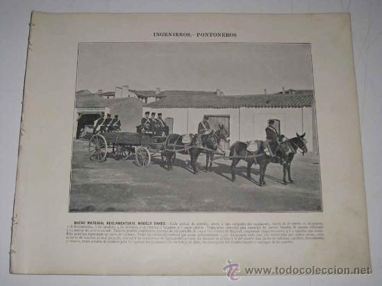 16 ANTIGUAS AUTOTIPIAS (LAMINAS) INGENIEROS PONTONEROS - FINALES DEL SIGLO XIX PRINCIPIOS DEL XX - (Militar - Propaganda y Documentos)