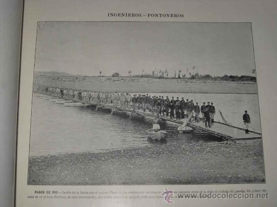 Militaria: 16 ANTIGUAS AUTOTIPIAS (LAMINAS) INGENIEROS PONTONEROS - FINALES DEL SIGLO XIX PRINCIPIOS DEL XX - - Foto 3 - 14940281