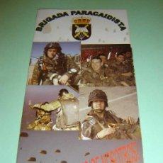 Militaria: PROPAGANDA DE RECLUTAMIENTO PARA LA BRIGADA PARACAIDISTA DEL EJÉRCITO ESPAÑOL. Lote 14942272