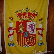 Militaria: ESCUDO DE ESPAÑA CONSTITUCIONAL DE 110 CMS. DE ALTO PARA BANDERA DE 4 MTS.. Lote 201098888