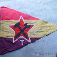 Militaria: BANDERA REPUBLICANA U.G.T - MANRESA -TALLERES MECANICOS COLECTIVIZADOS MANRESA. Lote 19575901