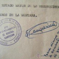 Militaria: INTERESANTE LOTE DE 7 CARTAS DEL GENERAL REPUBLICANO EL CAMPESINO Y CITACIÓN PARA UN COMITÉ. Lote 26584236