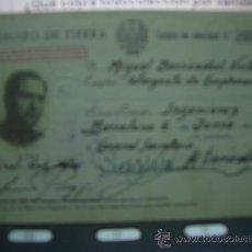 Militaria: TARJETA IDENTIDAD EJERCITO NDE TIERRA 1955-CAJA Nº 1. Lote 18173486
