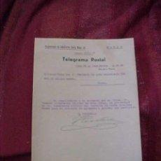 Militaria: TELEGRAMA POSTAL. REGIMIENTO DE INFANTERIA CADIZ. AÑO 1939.. Lote 19379851