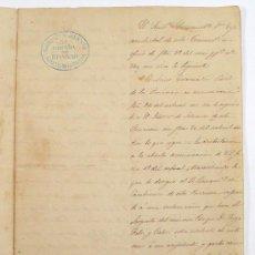 Militaria: 3º COMP. DE INFANTERÍA, AÑO 1857. COMANDANCIA DE GUIPÚZCOA? 4 HOJAS.. Lote 25895932