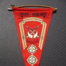 Militaria: (JX-37)BANDERIN GRUPO REGULARES DE INFANTERIA MELILLA Nº2. Lote 19823105