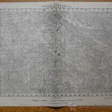 Militaria: MAYO 1938 GUERRA CIVIL MAPA DE VILLAVICIOSA EDICION ESPECIAL EN MADRID E 1:50000. Lote 20932470