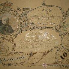 Militaria: FELICITACION DE S.M.R DON ALFONSO DE BORBON AL CORONEL 1ª REGIMEN DE WAD-RAS (1908). Lote 25450589