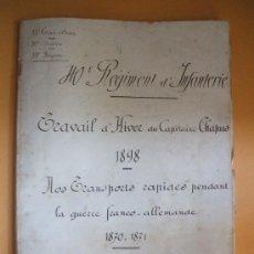 Militaria: GUERRA FRANCO- ALEMANA - 1870.1871 - ESTUDIO - TRANSPORTES RÁPIDOS. Lote 22672981