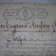Militaria: MANUSCRITO DEL AÑO 1841 .......REFERENTE.... A LAS GUERRAS CARLISTAS.. Lote 26039610