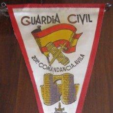 Militaria: ANTIGUO BANDERIN DE LA COMANDANCIA 201 - AVILA - GUARDIA CIVIL - MIDE 30 CMS APROX.. Lote 21414026