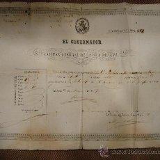 Militaria: PASAPORTE. ANNIE LAURIE. PASAPORTE PARA PASAR DE LA HABANA A INGLATERRA. 1857.. Lote 25722940