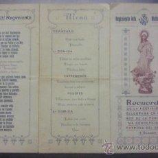 Militaria: RECUERDO FESTIVIDAD PURISIMA CONCEPCION REGIMIENTO INFANTERIA MILITAR MALLORCA 13 VALENCIA 1927. Lote 26919272
