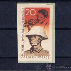 Militaria: VIÑETA 1958 REPUBLICA DEMOCRATICA ALEMANA. Lote 26492514