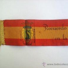 Militaria: CINTA BANDERA DE ESPAÑA RECUERDO DE MI INGRESO EN LA MARINA CARTAGENA , VER FOTOS INFORMATIVAS. Lote 27369129