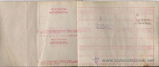 Militaria: SAN GINES DE VILASAR -CARTILLA DE RACIONAMIENTO AÑO 1947 **COLECCION DE CUPONES** - Foto 2 - 22744319