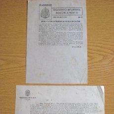 Militaria: ORDEN DEL DIA Y CARTA 1949. Lote 26964467