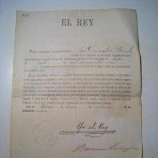 Militaria: CERTIFICADO SEGUNDO TENIENTE DE INFANTERIA DEL EJERCITO - POR EL REY ALFONSO XIII - 1914. Lote 23143192