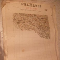 Militaria: MAPA DE ZONA DEL PROTECTORADO, KELAIA, SIDI BU AISA (19/7) ,1929. SELLO EJERCITO DEL AIRE. Lote 23745543