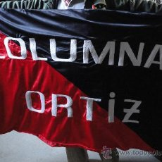 Military - Bandera de la CNT FAI, Columna Ortiz, COPIA, 100 x 160 cm aprox. - 24116309