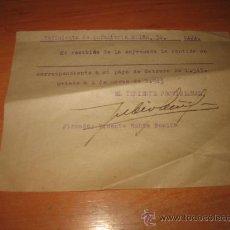Militaria: REGIMIENTO DE INFANTERIA Nº 32 CAJA..OVIEDO 1 DE MARZO DE 1943. Lote 24297120