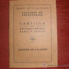 Militaria: CARTILLA DE ENCUADRAMIENTO PARA MANDOS. Lote 27077668